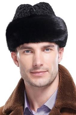 男性の毛皮の帽子